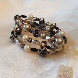 Lia sophia bracelet multi beaded and faceted.